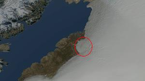 Descubren uno de los mayores cráteres del planeta bajo el hielo de Groelandia