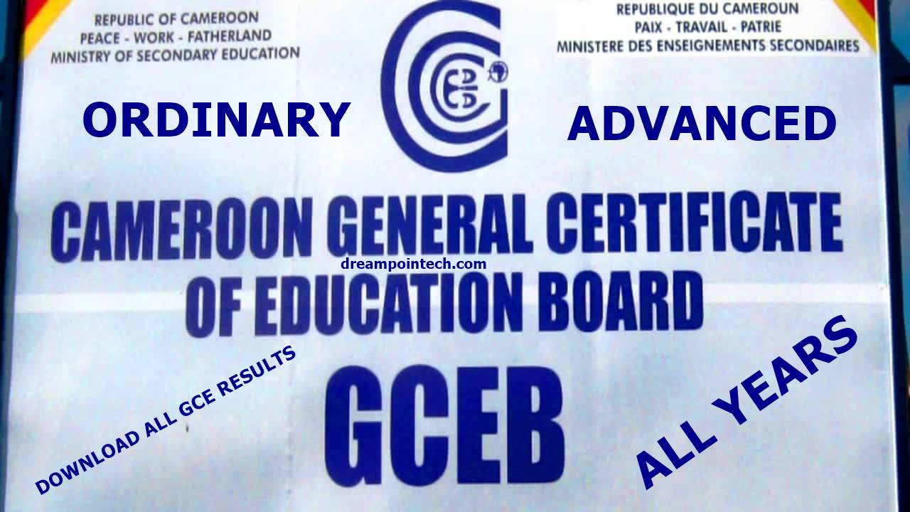 Download Free Cameroon GCE Board Results PDF For All Years: Ordinary and Advanced Level Results