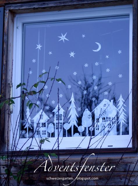 Adventsfenster Ideen.Ein Schweizer Garten Das Adventsfenster