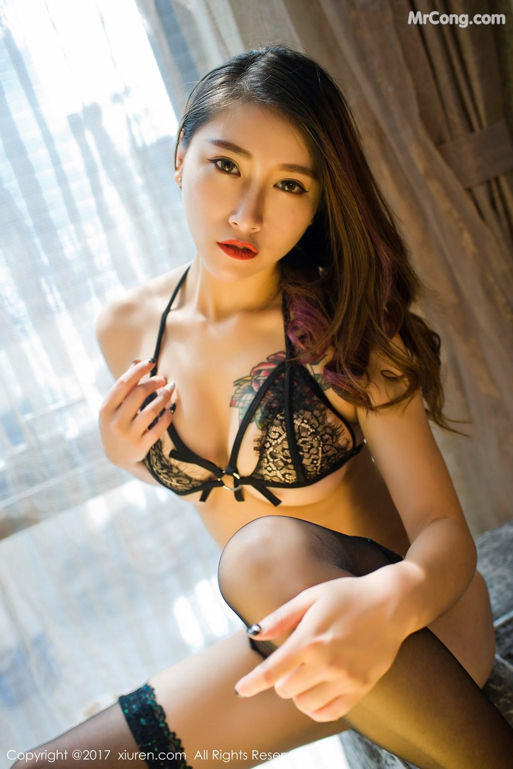 Image XIUREN-No.812-Du-Hua-Hua-MrCong.com-003 in post XIUREN No.812: Người mẫu Du Hua Hua (杜花花) (48 ảnh)