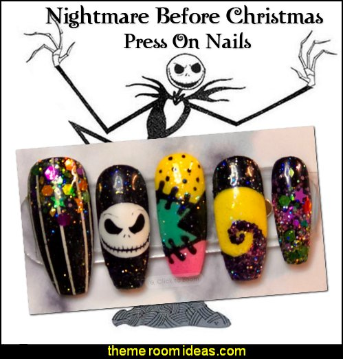 Nightmare Before Christmas Press On Nails Nightmare Before Christmas nail art decorating ideas