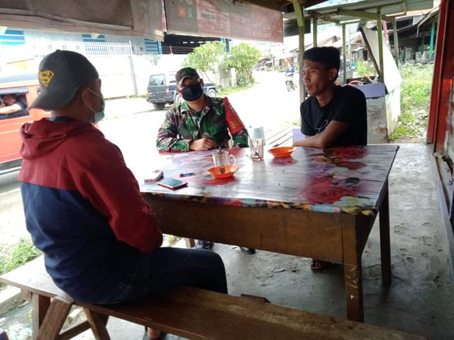 Jalin Keakraban Serta Silaturahmi Dilakukan Personel Koramil 12/Saribu Dolok Jajaran Kodim 0207/Simalungun