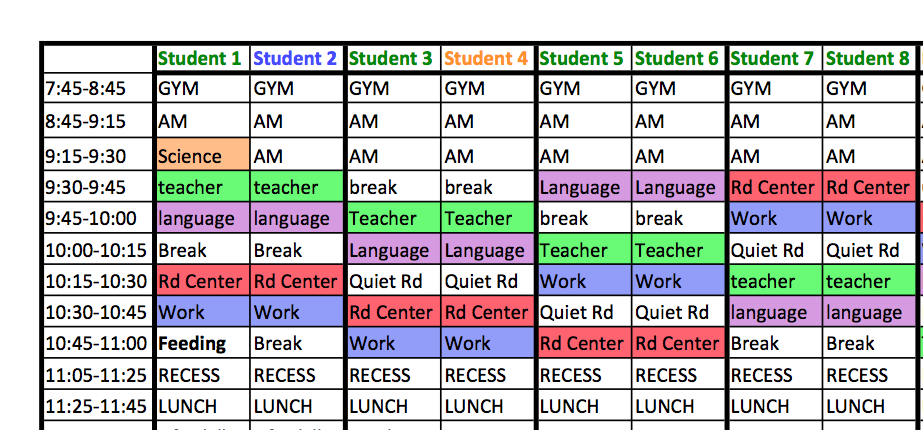 Search results for autism visual schedule template for Special education schedule template