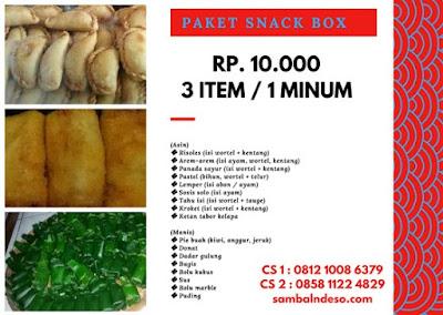 harga snack box di Ciledug kota Tangerang