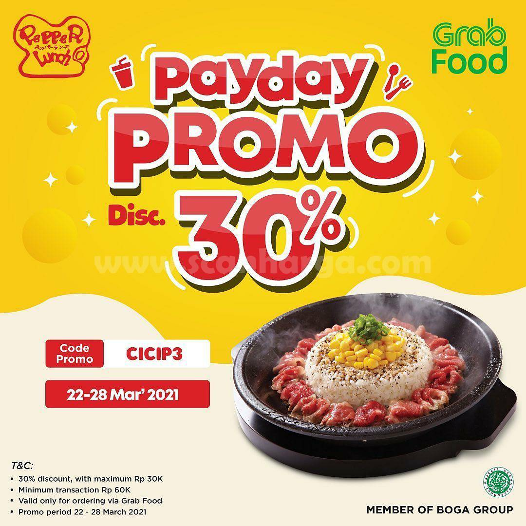 PEPPER LUNCH Promo PAYDAY GRABFOOD DISKON 30%