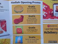 Besok, McDonald's Kemiling Opening, Ada Banyak Promo!
