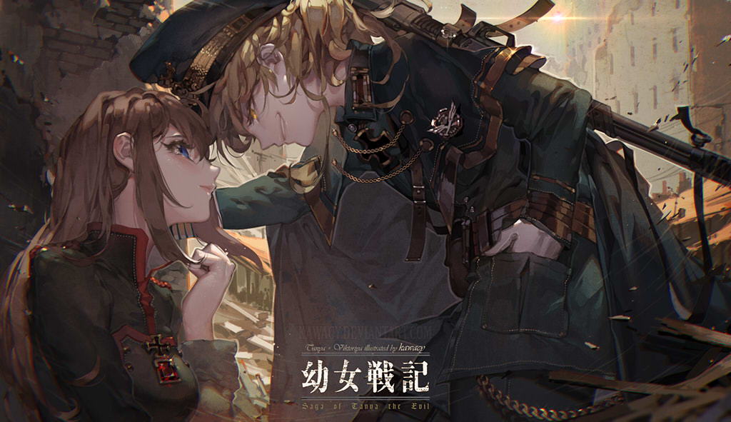Fanart Youjo Senki Dengan Gaya Light Novel Dan Anime