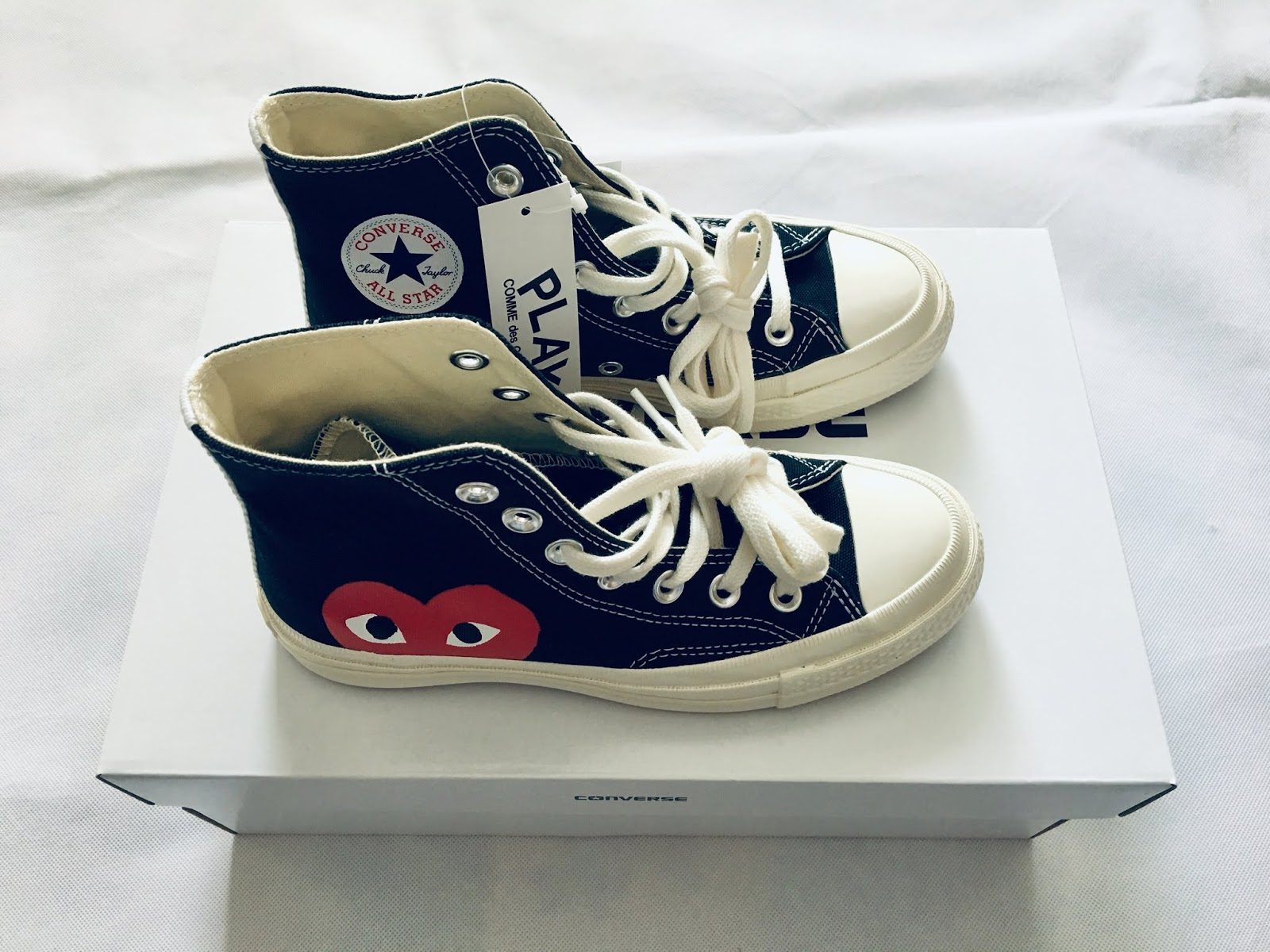77d580887d7 Comme des Garcons Play x Converse Chuck Taylor 70 High Sneakers