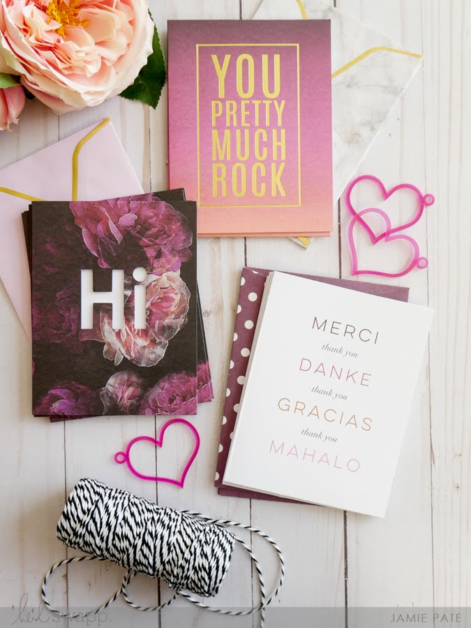 alentines Made Easy with Heidi Swapp Stationery by Jamie Pate | @jamiepate for @heidiswapp