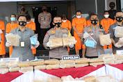 Akibat Ganja 159 Kg, 9 Pelaku Terancam Hukuman Mati