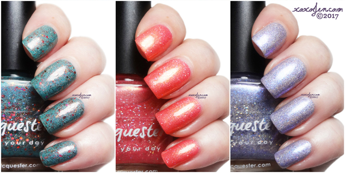 xoxoJen's swatch collage of Lacquester HHC Polishes