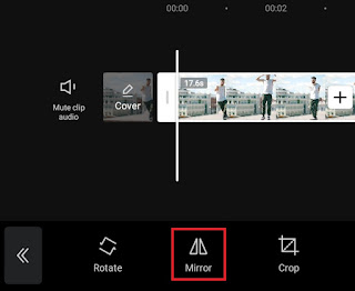 how to mirror video on android