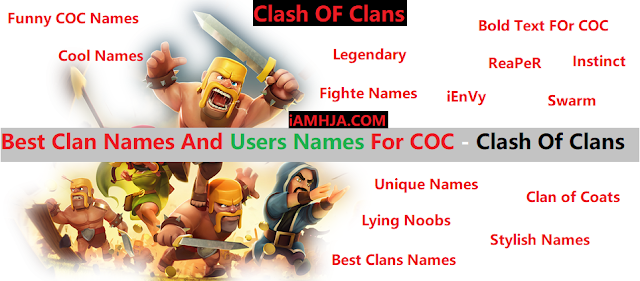 best cool clan names for COC
