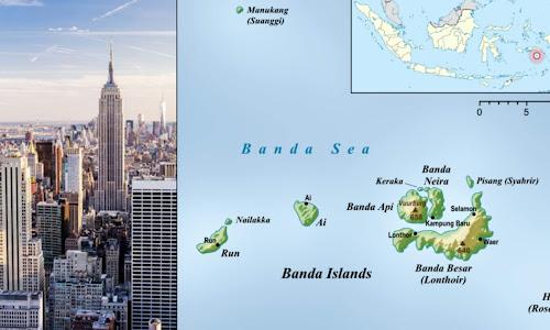 Pulau Run di Maluku Ditukar Dengan New York di Amerika