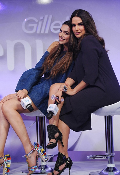 Deepika Padukone with Neha Dhupia