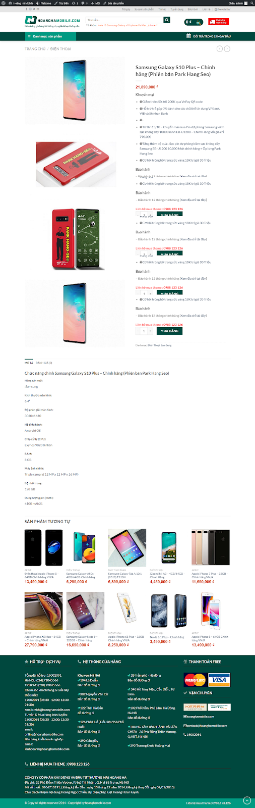 Full code theme wordpress Hoàng hà Mobile , theme hoanghamobile , full code shop worpress