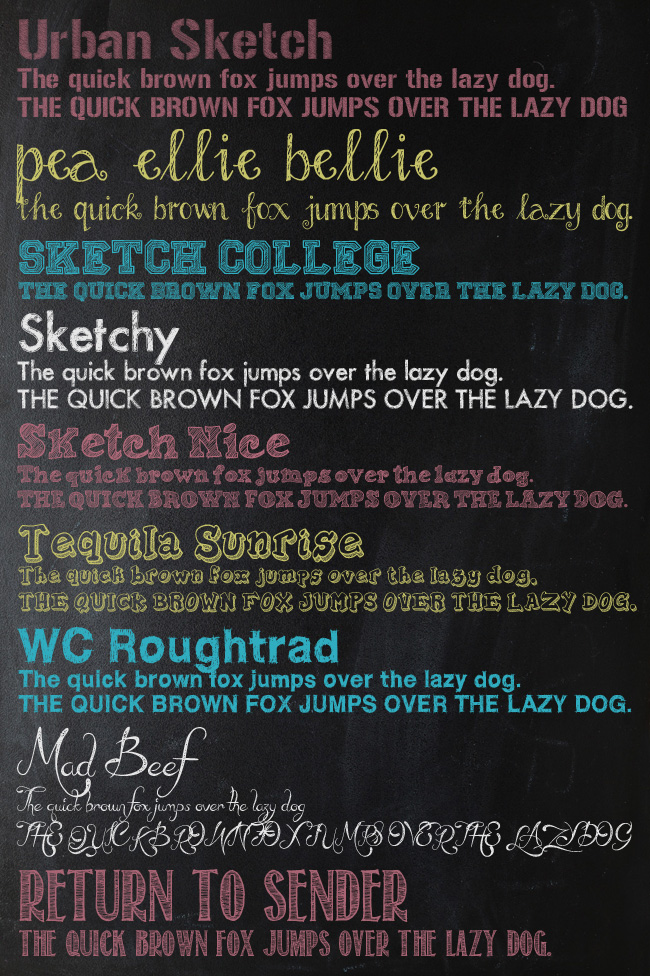 Chalk Font List Three