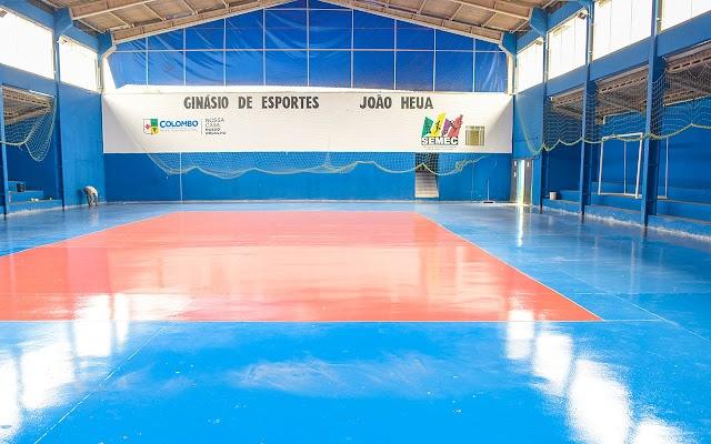 Prefeitura de Colombo revitaliza ginásio de esporte do Osasco