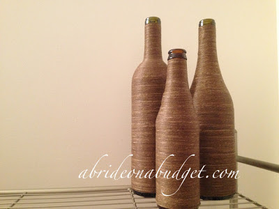 Twine-wrapped wine bottles tutorial