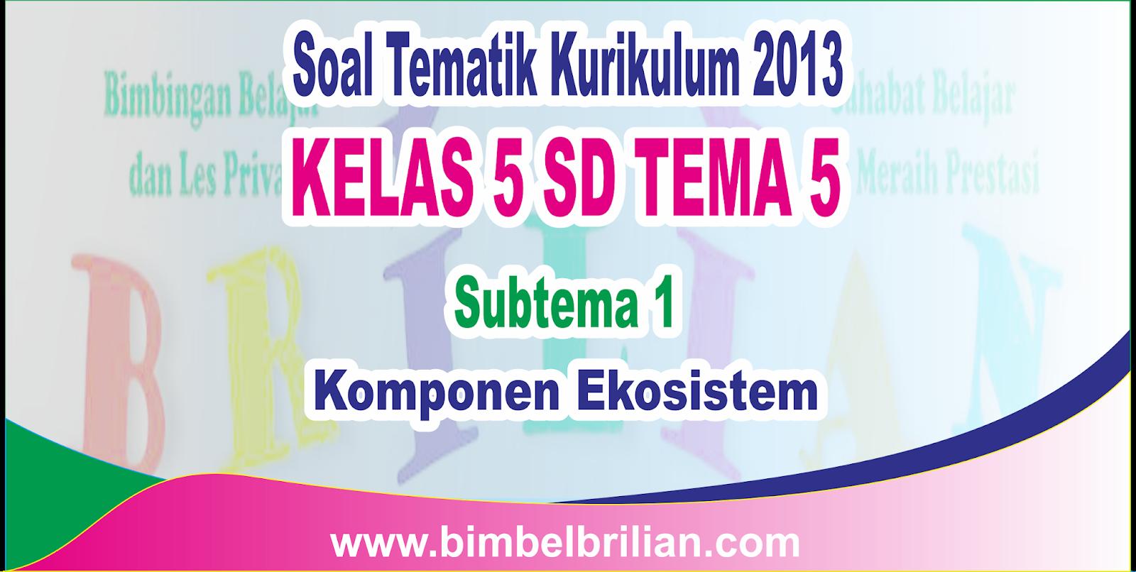 Download Soal Tematik Kelas 5 SD Tema 5 Subtema 1 Komponen ...