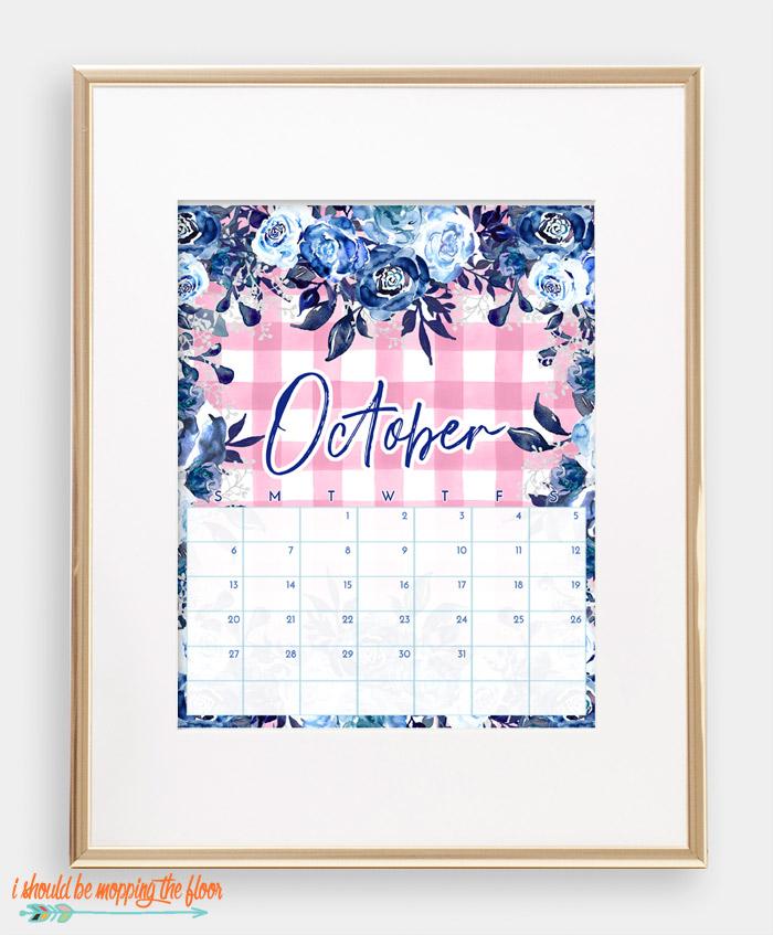 October Chinoiserie Calendar