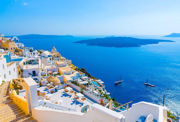 Cidade de Fira, na Grécia