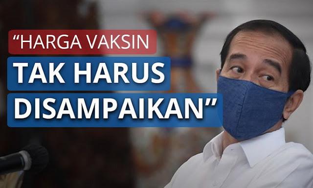 Jokowi Minta Harga Vaksin Covid-19 Tidak Disampaikan ke Publik
