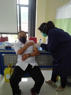 Vaksinasi Corona Tahap Kedua Di Puskesmas Karangreja
