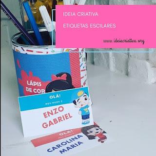Etiqueta escolar Lucas Neto para imprimir