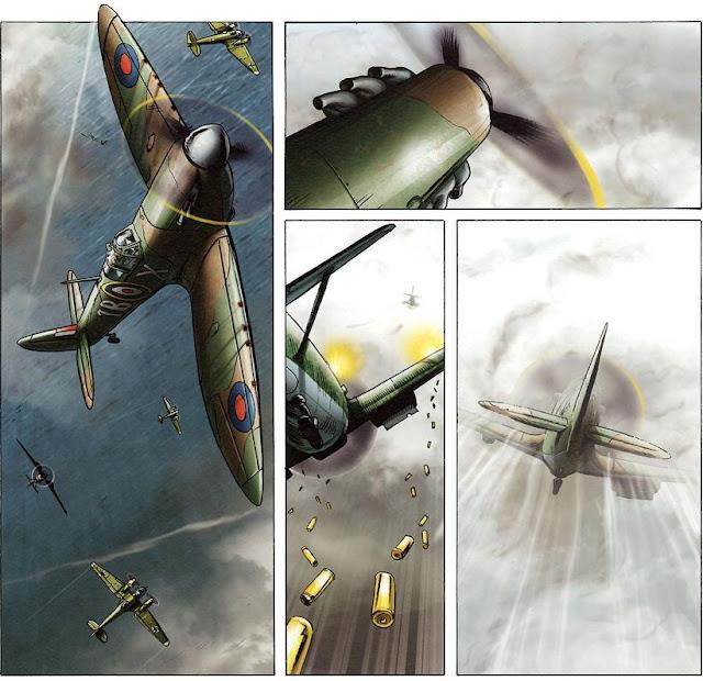 Lady Spitfire comic dogfight