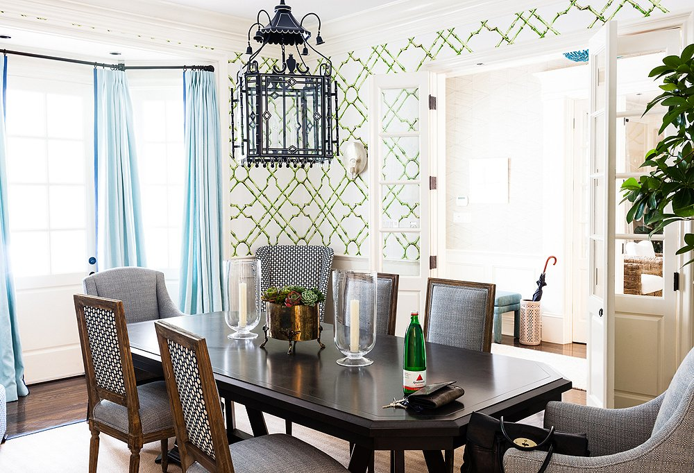 transitional traditional eclectic interior dining room design decor