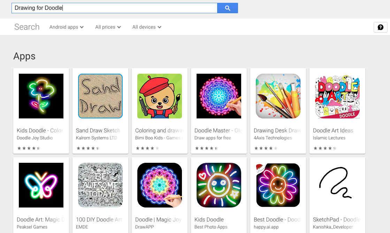 6. Aplikasi Menggambar Drawing for Doodle