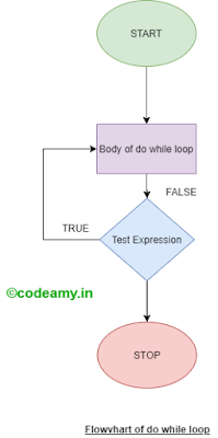 do while in c programming and flow chart