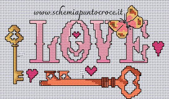 Fuori porta a punto croce con farfalla-pattern stitch free