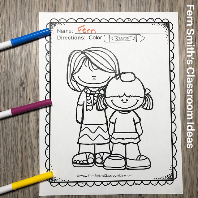 Click Here for the Mother's Day Coloring Pages FREEBIE!