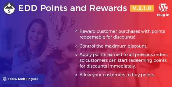 Easy Digital Downloads – Points and Rewards v2.1.0 Nulled