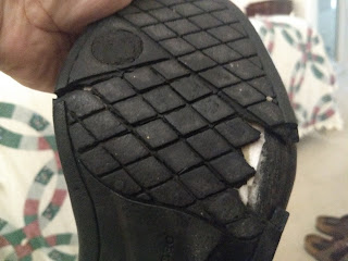 old shoes falling apart