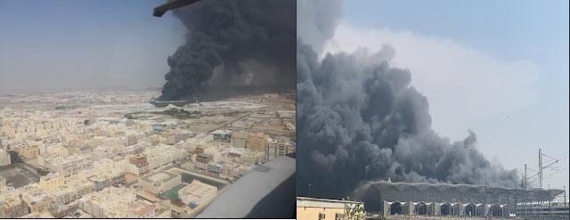 حريق محطة الحرمين