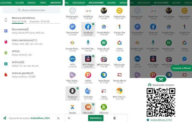 Mejores apps para compartir archivos desde Android