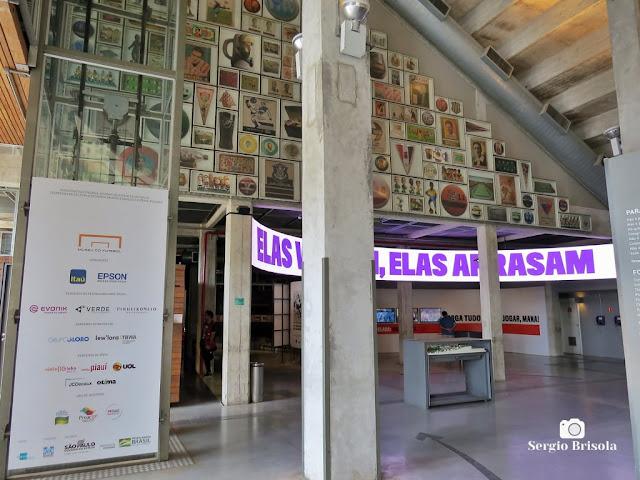 Vista do Hall de entrada do Museu do Futebol - Pacaembu - São Paulo