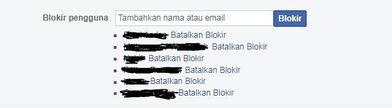 cara memblokir teman di fb secara massal