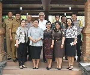 Dandim 1619/Tabanan Hadiri Rapat Koordinasi Tim Pemantau dan Pengendalian Pengamanan Daerah
