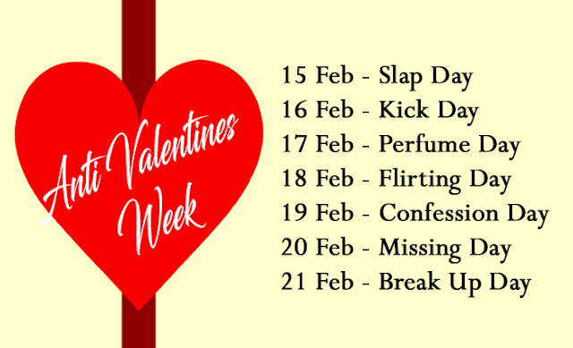 Anti Valentine Day Week list