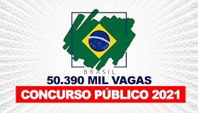 Concursos públicos ABERTOS ofertam 50.390 vagas com salário de até R$ 30,4 mil