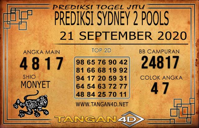 PREDIKSI TOGEL SYDNEY 2 TANGAN4D 21 SEPTEMBER 2020