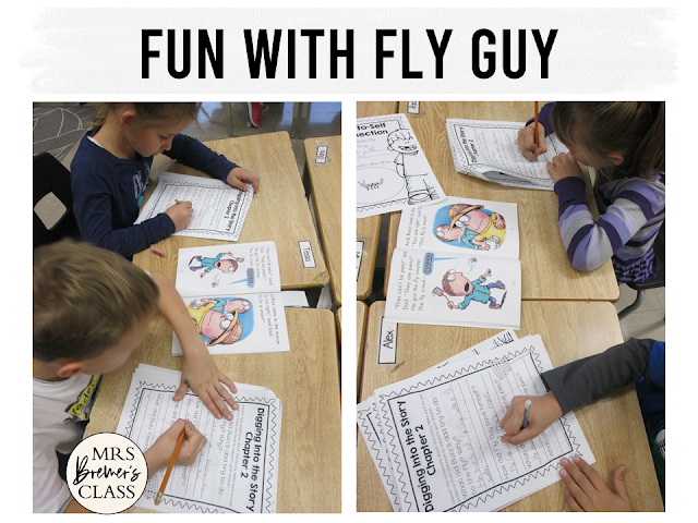 Our class LOVES the Fly Guy book series by Tedd Arnold. We've had fun with these reading and standards based book study literacy activities for First Grade and Second Grade!