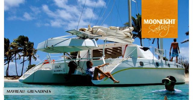 Catamaran en mouillage aux Caraibes