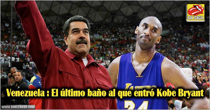 Venezuela : El último baño al que entró Kobe Bryant