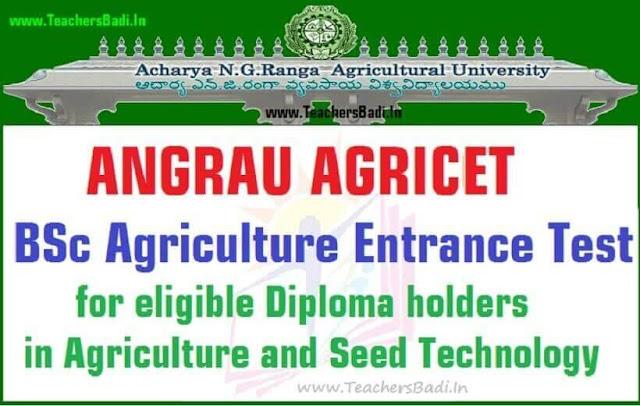 AP AGRICET,BSc Agriculture Entrance Test,ANGRAU AGRICCET