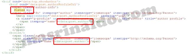 Merubah Nama Penulis Pengarang Admin di Blog dari Template Blogspot
